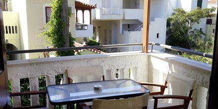 Tvårumslägenhet på hotell Smaragda Beach i Votsalakia på Samos, Grekland.