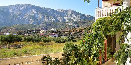 Hotell Smaragda Beach i Votsalakia på Samos, Grekland.