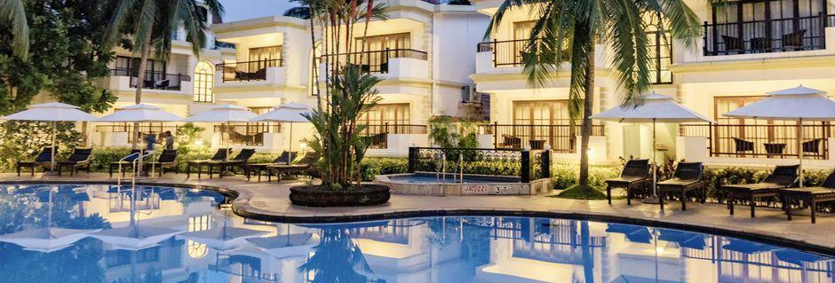 Pool på hotell Sonesta Inns i Goa, Indien.