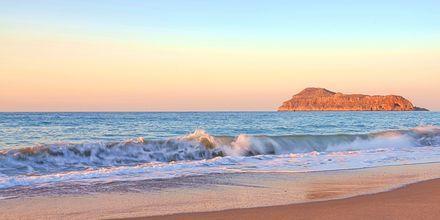 Stranden vid hotell Sonio Beach i Platanias på Kreta, Grekland.