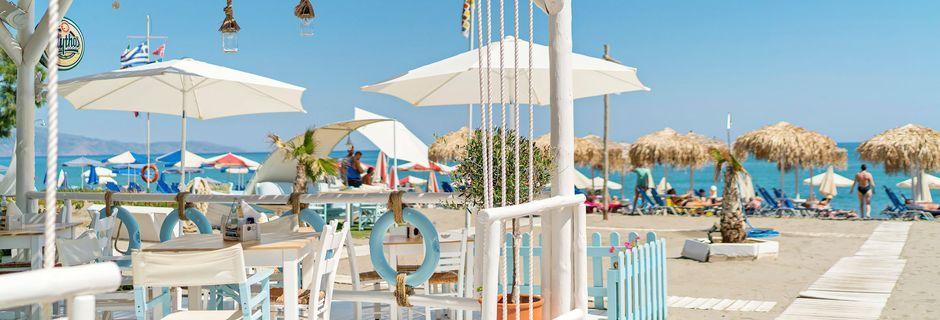 Restaurang på hotell Sonio Beach i Platanias på Kreta, Grekland.