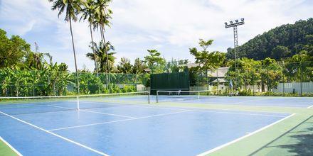 Tennisbanan på hotell Southern Lanta Resort, Thailand.