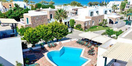 Vy över hotell Spiros i Naxos stad, Grekland.