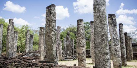 Ruinerna i Polonnaruwa på Sri Lanka.