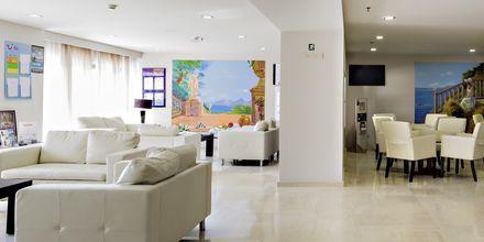 Lobby på hotell St Constantine på Kos, Grekland.