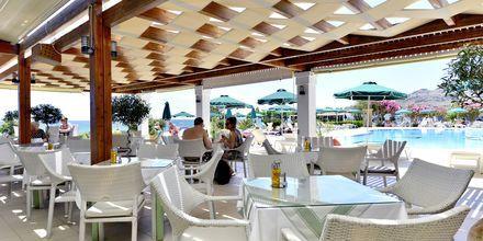 Restaurang på hotell St James´s på Rhodos, Grekland.