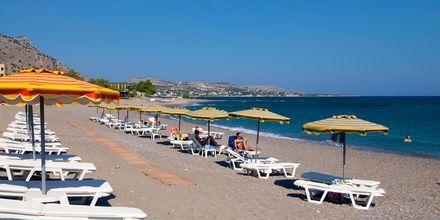 Stranden vid hotell St James på Rhodos, Grekland.