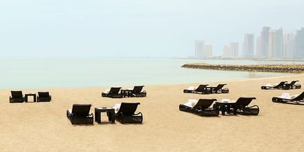 Hotell St Regis Doha privata strand.