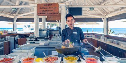 Restaurang på hotell Star Beach Village & Waterpark i Hersonissos på Kreta.