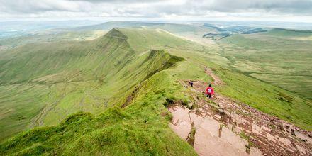 För upptäckaren finns det många vandringsleder i Storbritannien, här i Wales.