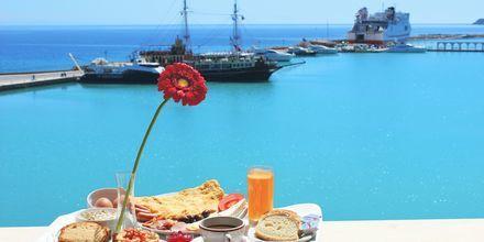Havsutsikt från hotell Strada Marina på Zakynthos i Grekland.