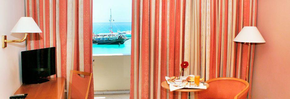 Dubbelrum på hotell Strada Marina på Zakynthos i Grekland.