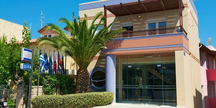 Entré på hotell Summer Dream i Rethymnon på Kreta, Grekland.