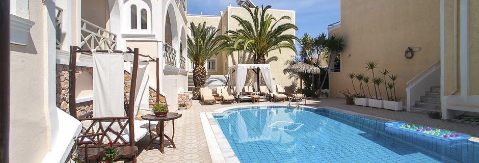 Hotell Summer Dream i Kamari på Santorini.