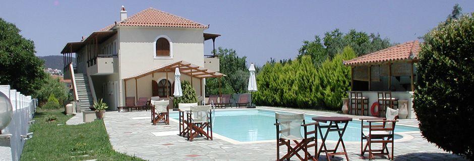 Poolen på Sun Hotel på Skopelos, Grekland.