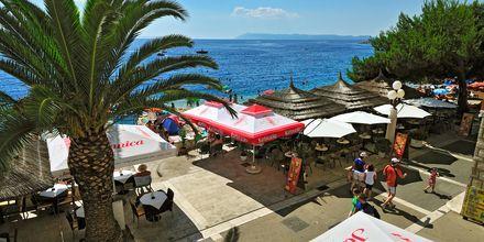 Restaurang på hotell Sunce i Podgora på Makarska Rivieran.