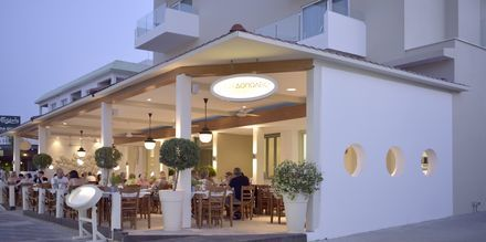 Grekiska restaurangen Kyklos, ca 15 minuters promenad från hotellet.