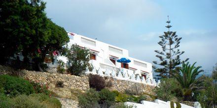 Hotell Sunset i Lefkos på Karpathos, Grekland.
