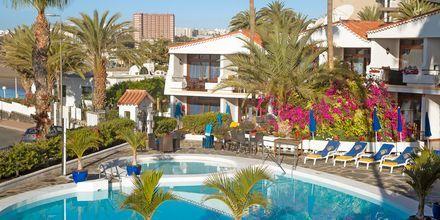 Poolområdet på hotell Sunsuites Carolina på Gran Canaria, Kanarieöarna.