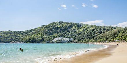 Ca 300 meter från hotellet ligger Nai Harn Beach. Hotellet erbjuder gratisbuss dagligen.