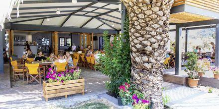 Restaurang på hotell Sunwaves i Vassiliki på Lefkas.