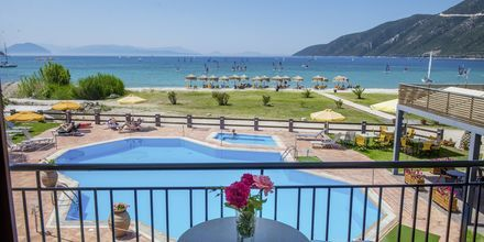 Hotell Sunwaves i Vassiliki på Lefkas.