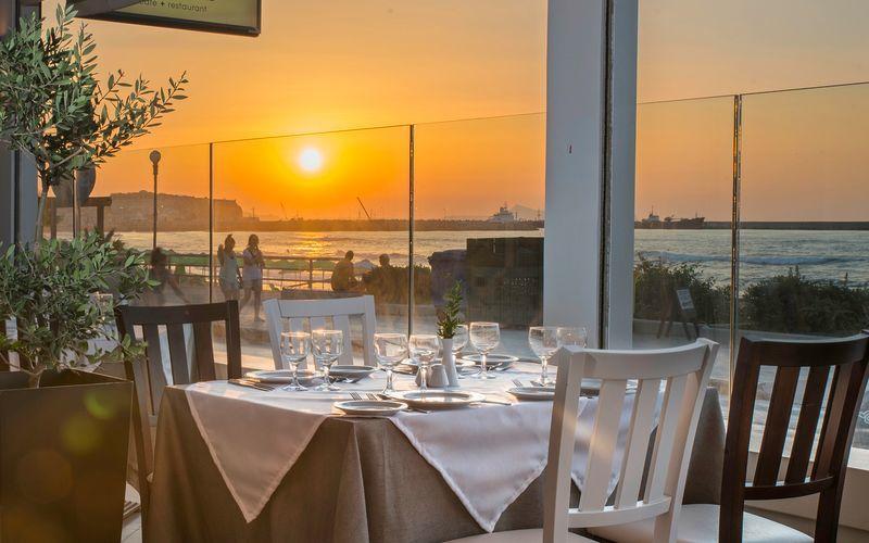 Restaurang på Swell Boutique Hotel, Rethymnon, Kreta.