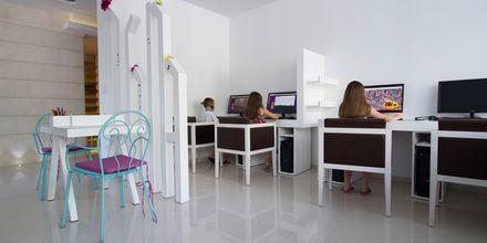 Internethörna på hotell Tamaris i Tucepi på Makarska rivieran.