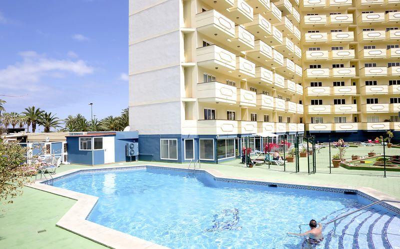 Poolen på hotell Teneguia i Puerto de la Cruz, Teneriffa.