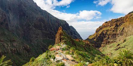 Bergsby på Teneriffa, Kanarieöarna.