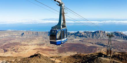Linbana upp till Teide på Teneriffa.