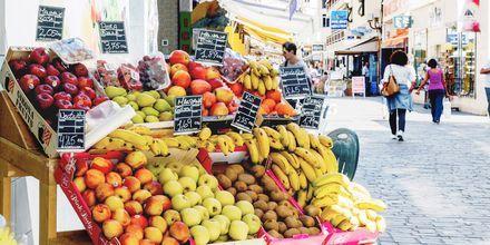 Frukthandlare i Los Cristianos på Teneriffa.