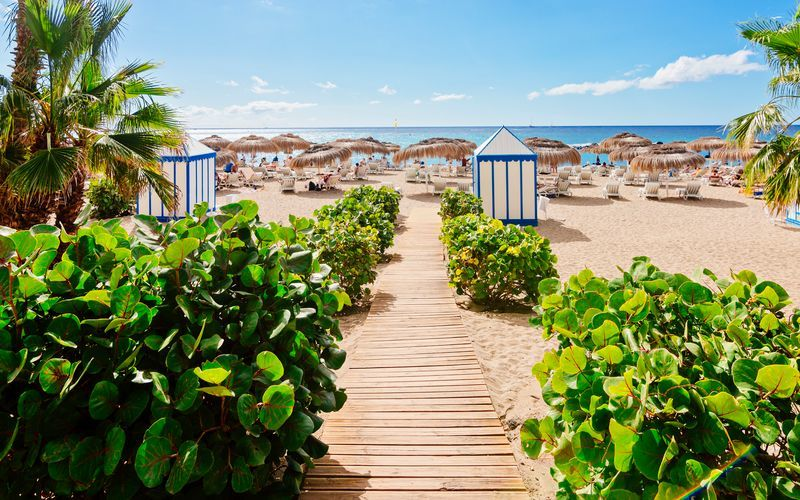 Strand på Teneriffa, Kanarieöarna.