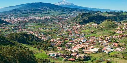 Utsikt över Teneriffa, Kanarieöarna.