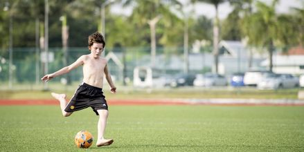 Fotbollsplaner på Thanyapura Sport & Health Resort i Thalang på Phuket.