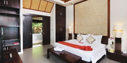 Dubbelrum i bungalow på The Cliff Resort i Phan Thiet, Vietnam.