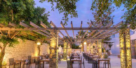 Restaurang The Taverna på The Island på Kreta, Grekland.