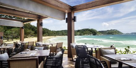 Strandrestaurangen på Apollos hotell Nai Harn Phuket.