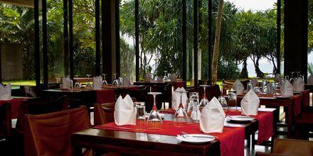 Restaurangen på The Temple Tree i Bentota på Sri Lanka.