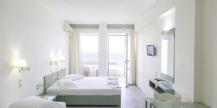 Renoverad enrumslägenhet på hotell Theo i Rethymnon, Kreta.