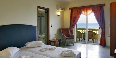 Tvårumslägenhet på hotell Theo i Rethymnon, Kreta.