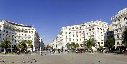 Torg i Thessaloniki, Grekland.