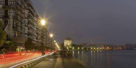 Strandpromenaden i Thessaloniki, Grekland.