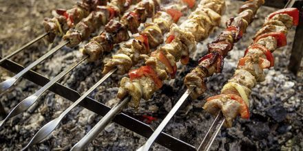 God mat i Thessaloniki, Grekland.
