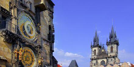 Det astronomiska uret på stadshuset i Prag.