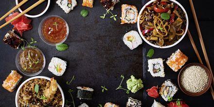 Maten i Tokyo är en härlig blandning av sushi, grillat, tempurafriterat och härliga soppor.