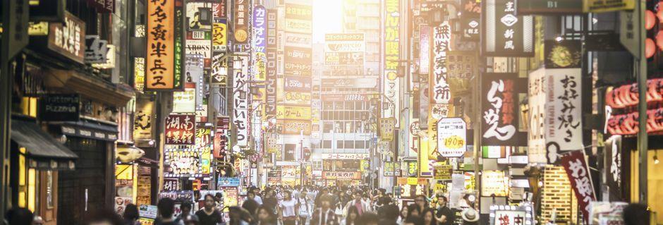Tokyo, huvudstad i Japan, är ett spännande resmål med mycket att upptäcka.