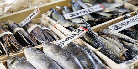 Tokyo Fish Market i Tokyo, Japan, en populär sevärdhet.