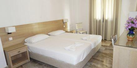 Tvårumslägenhet på hotell Topaz i Kokkari på Samos, Grekland.