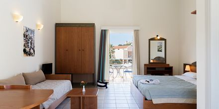Enrumslägenhet på hotell Triton i Agii Apostoli på Kreta.